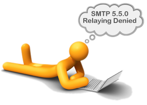 SMTP 550 relaying denied, solved with outMail by Prolateral